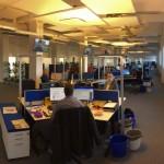 Der Newsroom der Mitteldeutschen Zeitung - hier soll crossmedialer Journalismus entstehen.